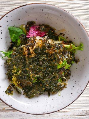 Nori algae asian salad soya sprouts gado-gado