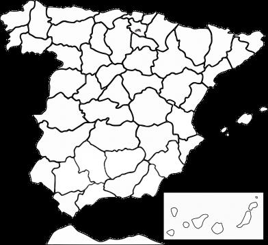 mapa españa full blanco